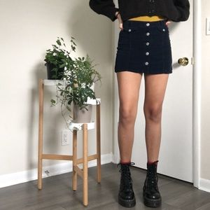 BDG navy blue corduroy skirt